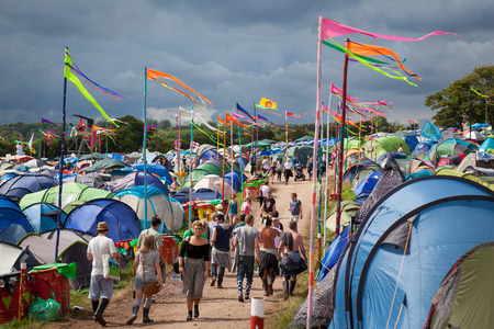Glastonbury and festival toilets