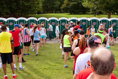 portable toilets during marathon