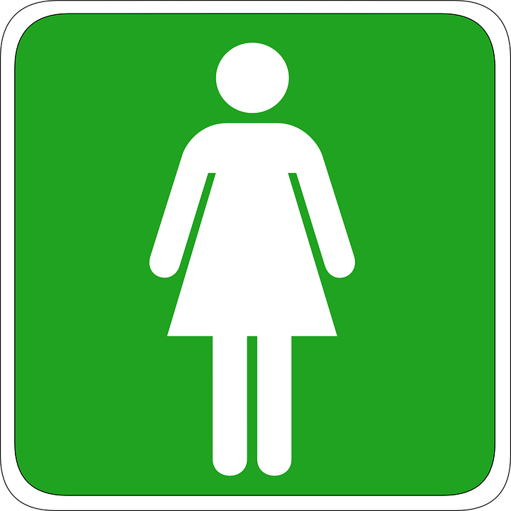 Female toilet queue