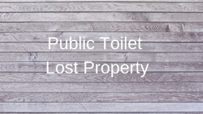 public toilet lost property