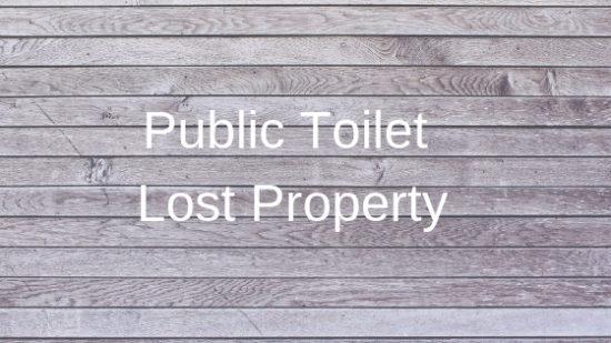 public toilet lost property