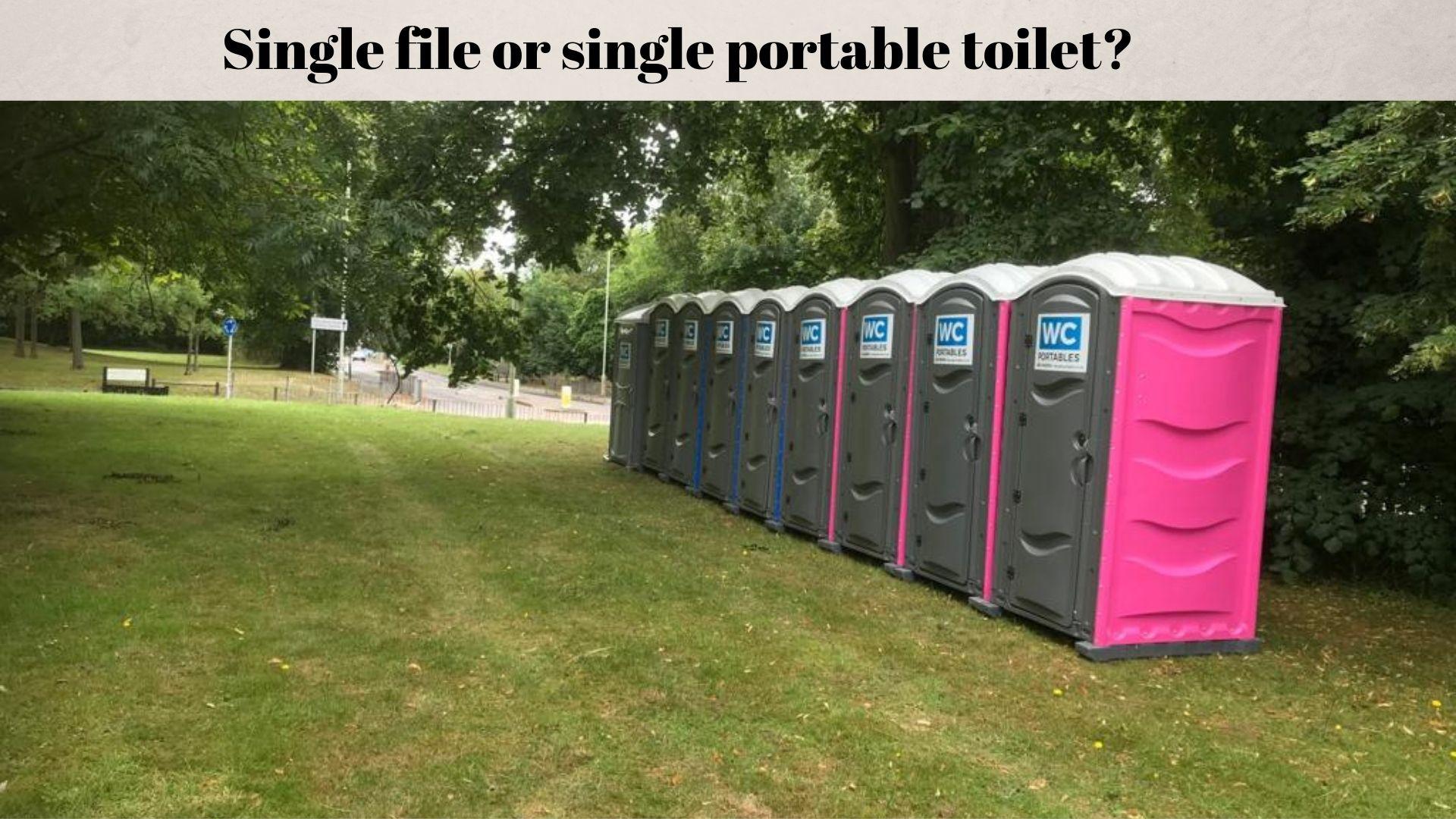 single portable toilet unit