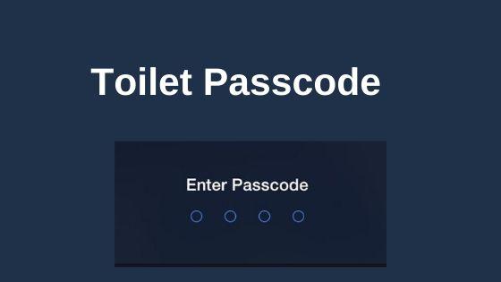 public toilet passcode