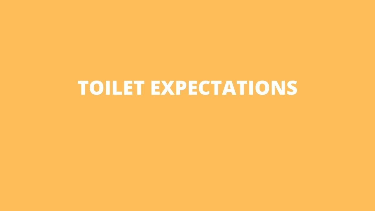 toilet expectations