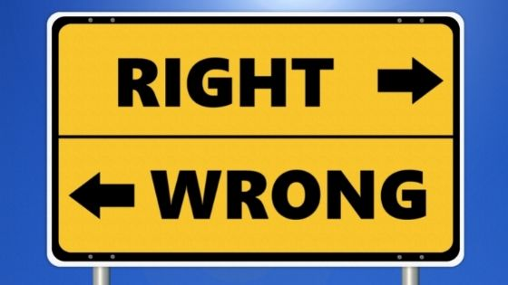 right and wrong direction